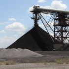 A huge conveyor moves pulverized coal into the AES Shady Point power plant near