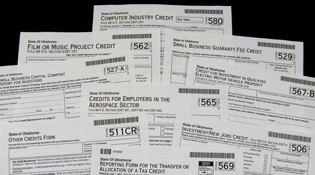 Oklahoma offers a number of tax credits for a variety of business ventures, investments and purchases. Recipients range include aerospace employers, coal mine operators and Hollywood movie makers.