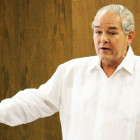 The Rev. Ramon Aleman explains why he emphasizes education to young people in his Cristo Rey Baptist Church.