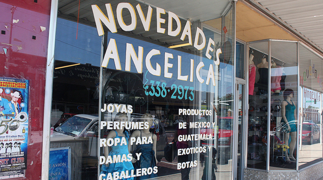 Novedadas Angelica caters to Mexican-Americans in Guymon's Main Street district.