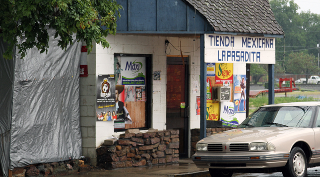 Tienda Mexicana is one of numerous Hispanic-owned businesses that now occupy Heavener's once dying downtown district.