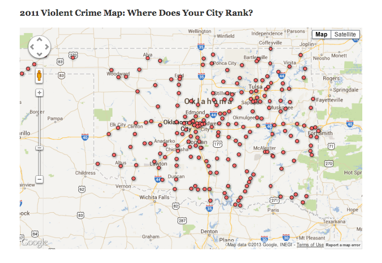 What Is Your City S Violent Crime Rate Oklahoma Watch