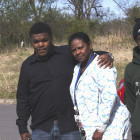 (left to right) Jarrod Hubbard, Deonna Williams and Javion Beavers visit the site  in northwest Tulsa where police discovered the bones and skull of Khyre Campbell. Williams,  Campbell's stepmother, and Hubbard and Beavers, two of Campbell's half brothers, said they  still aren't sure what happened to him the night he disappeared in December 2012.