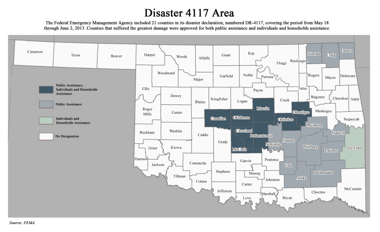 Disaster 4117 Area Map