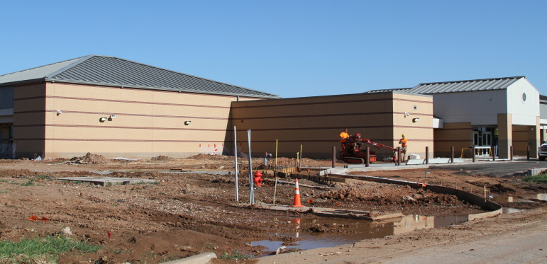 Construction is ongoing to rebuild Briarwood Elementary School in Moore. The school was destroyed in the EF-5 tornado on May 20, 2013.