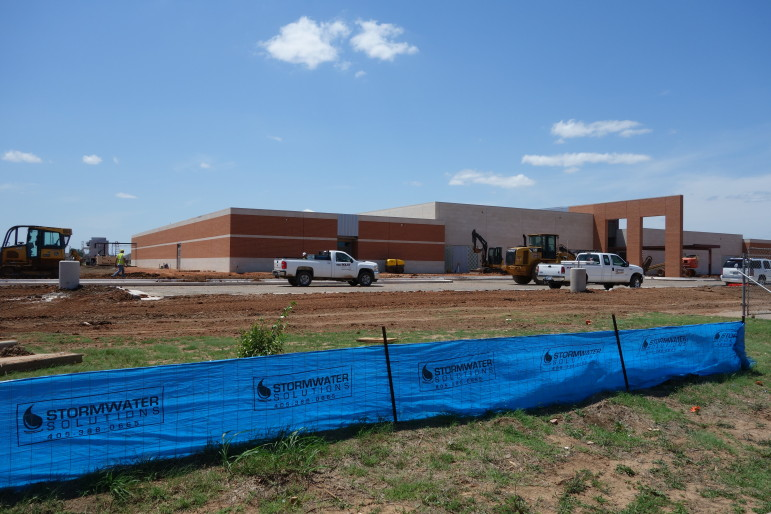 The new Plaza Towers Elementary School is now in use, thanks to federal aid that rebuilt it.