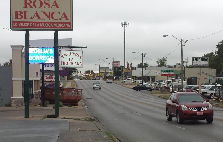 A view of S.W. 29th Street in Hispanic-majority House District 89 in south Oklahoma City.