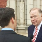 University of Oklahoma President David Boren answers questions about campus racism during a press conference Friday.