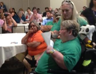 Sue Shelton of Pryor addresses the Oklahoma Health Care Authority.
