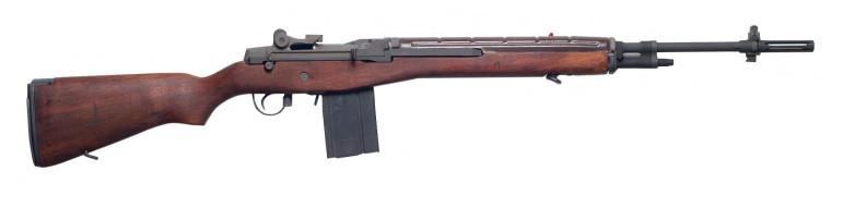 An M-14 battle rifle.