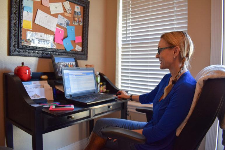 Epic teacher Kristi Rich works from her Maysville home.