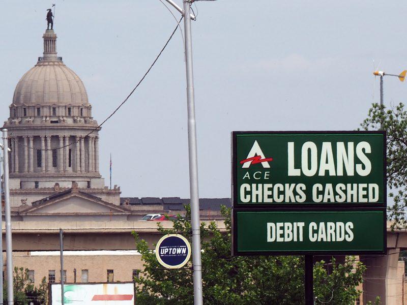 Loan sign near Capitol
