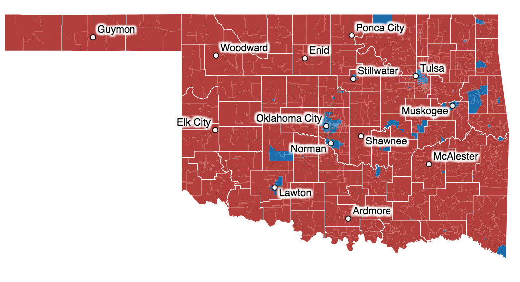 How Oklahoma Voted Precinct Level Interactive Maps Oklahoma Watch
